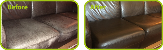 leather furniture recolouring and mild restoration